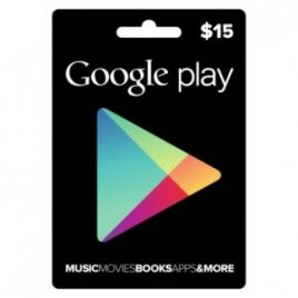 $15 Google Play USA Gift Card