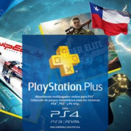 PLAYSTATION PLUS 3 MESES CHILE